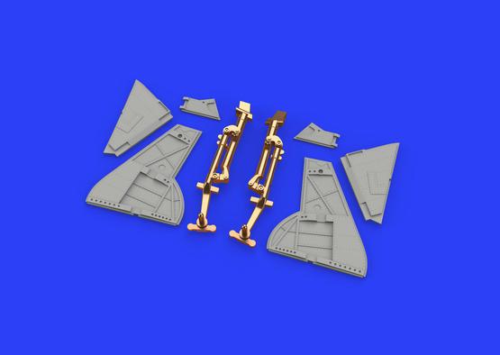 Tempest Mk.V undercarriage legs BRONZE 1/48  - 1