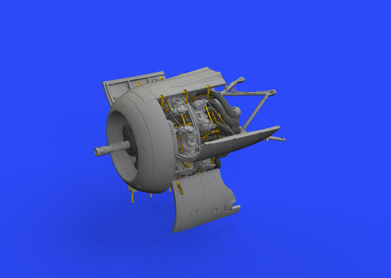 Fw 190A-8/R2 двигатель 1/48  - 1