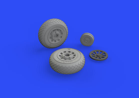 P-51D wheels diamond tread 1/48  - 1