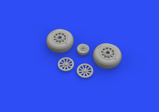 P-51D wheels pointed cross tread 1/48  - 1