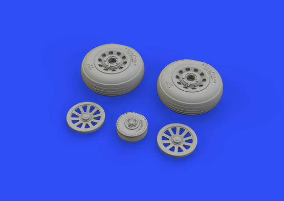 P-51D wheels grooved 1/48  - 1