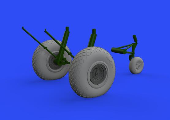B-17 wheels 1/48  - 1