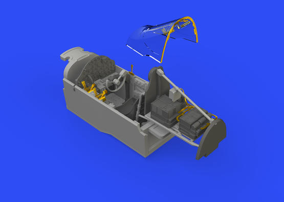 P-38G кабина 1/48  - 1