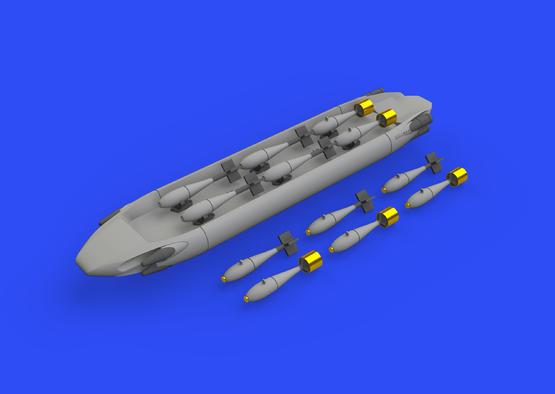 SUU-20 dispenser w/ BDU-33 & Mk.76 bombs 1/48  - 1