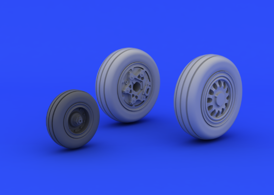 F-16CJ Block 50 wheels 1/72  - 1
