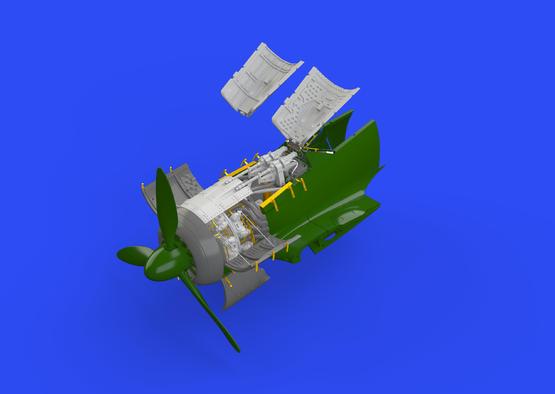Fw 190A-5 engine & fuselage guns 1/72  - 1