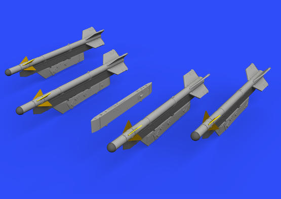 R-3S missiles w/ pylons for MiG-21 1/72  - 1