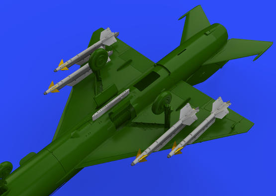 R-13M missiles w/ pylons for MiG-21 1/72  - 1