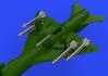 R-13M rakety s pylony pro MiG-21 1/72 - 1/3