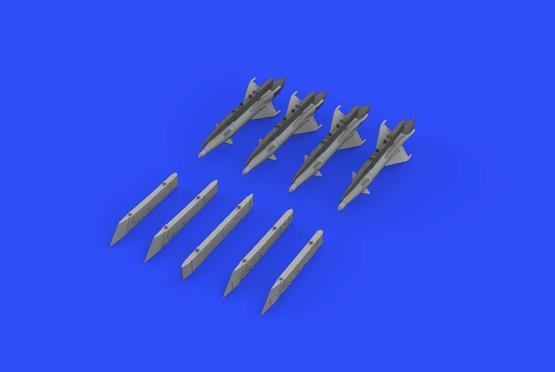 RS-2US střely a pylony pro MiG-21 1/72  - 1