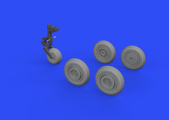 MiG-17 wheels 1/72  - 1