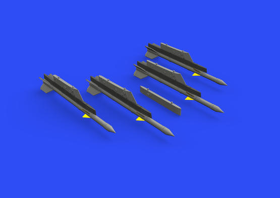 R-3R missiles w/ pylons for MiG-21 1/72  - 1