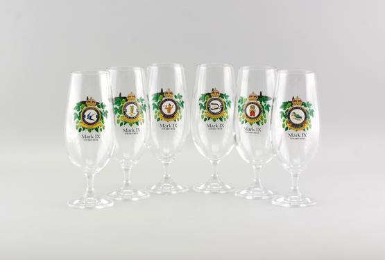 Kolekce pivních sklenic Eduard Mark IX (6 ks)