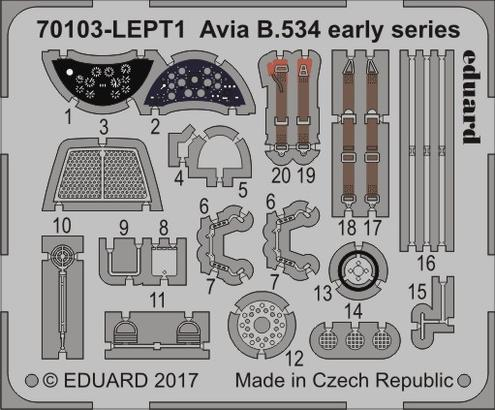Avia B-534 early series  PE-set 1/72