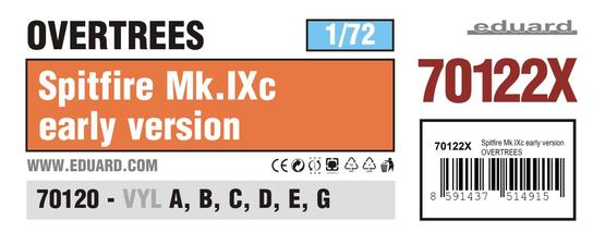 スピットファイア Mk.IXc 初期型 オーバーツリーズ 1/72