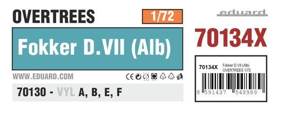 Fokker D.VII (Alb) OVERTREES 1/72