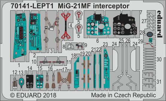 MiG-21MF interceptor PE-set 1/72