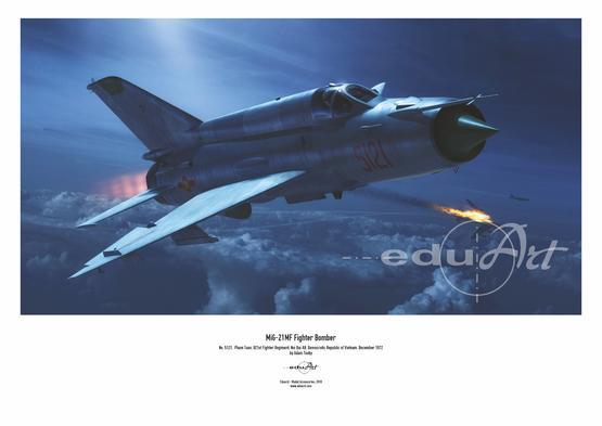 Poster - MiG-21MF fighter-bomber