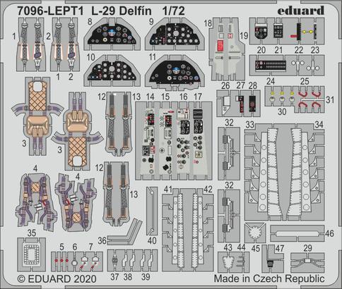 L-29 Delfin PE-set 1/72