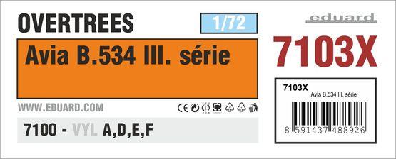 Avia B.534 III. serie OVERTREES 1/72