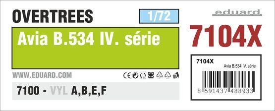 Avia B.534 IV. série OVERTREES 1/72