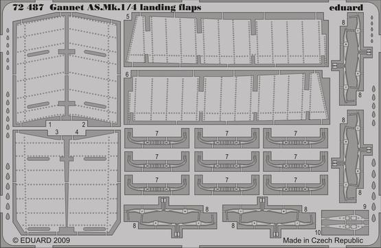 Gannet AS.Mk.1/4 landing flaps 1/72