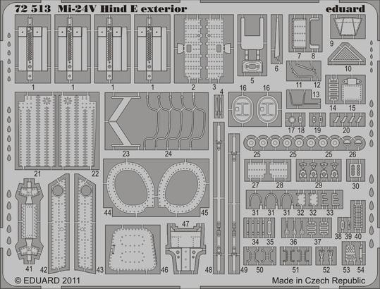 Mi-24V Hind E exteriér 1/72