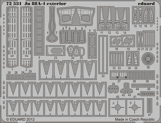 Ju 88A-4 exteriér 1/72