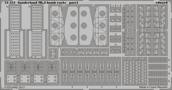 Sunderland Mk.I bomb racks 1/72  - 1