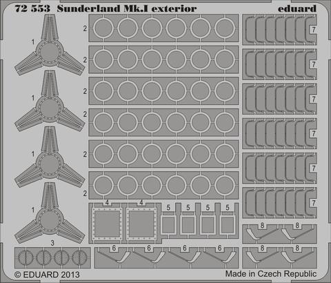 Sunderland Mk.I exterior 1/72