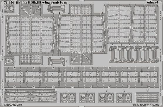 Halifax B Mk.III wing bomb bays 1/72
