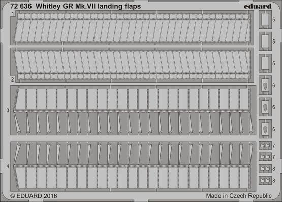 Whitley GR Mk.VII landing flaps 1/72  - 1