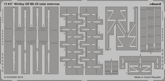 Whitley GR Mk.VII antény radaru 1/72