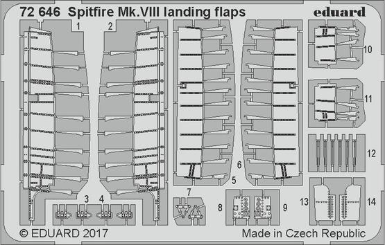 Spitfire Mk.VIII landing flaps 1/72