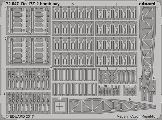 Do 17Z-2 бомболюк 1/72