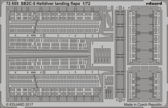 SB2C-5 Helldiver landing flaps 1/72