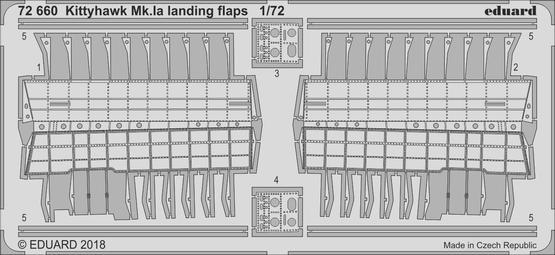 Kittyhawk Mk.Ia landing flaps 1/72