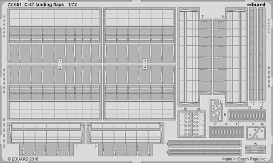 C-47 landing flaps 1/72