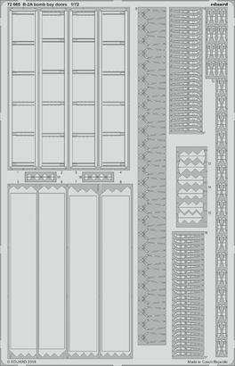 B-2A bomb bay doors 1/72