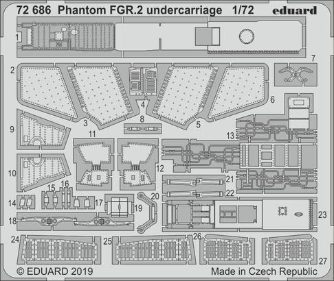 Phantom FGR.2 undercarriage 1/72
