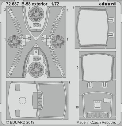 B-58 exteriér 1/72