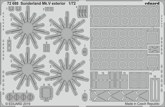 Sunderland Mk.V экстерьер 1/72