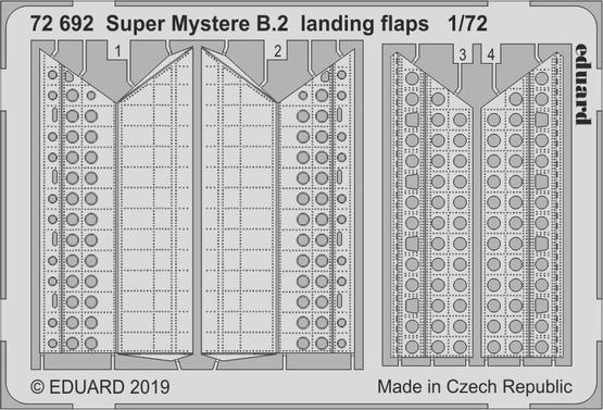 Super Mystere B.2 landing flaps 1/72