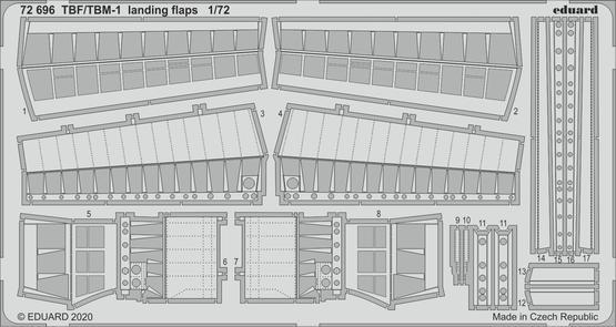 TBF/TBM-1 Avenger landing flaps 1/72