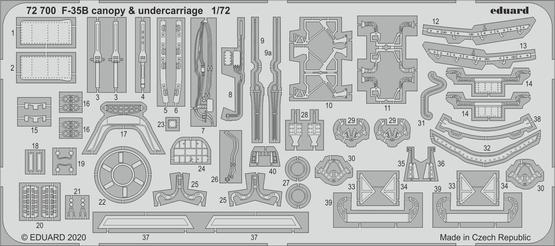 F-35B canopy & undercarriage 1/72