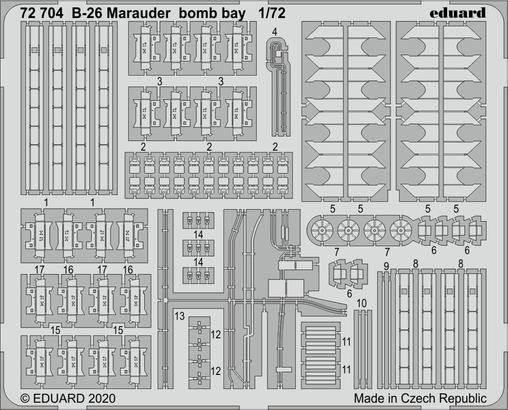 B-26 Marauder bomb bay 1/72