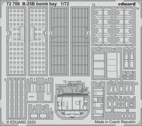 B-25B bomb bay 1/72