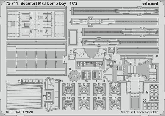 Beaufort Mk.I bomb bay 1/72