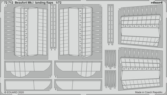 Beaufort Mk.I landing flaps 1/72
