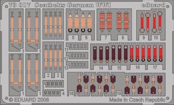 Seatbelts German WWI 1/72